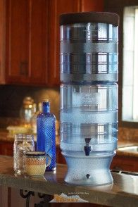 The berkey light water filter is a plastic system that can be used in both outdoor and indoor environments.
