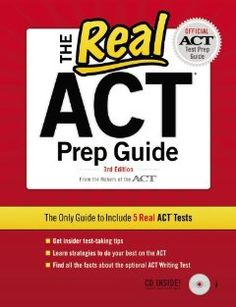 Book from the makers of the ACT--ACT Prep Guide via @Amazon.com