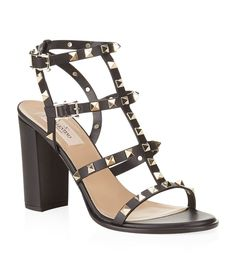 Valentino Rockstud 90 Leather Sandal | Harrods