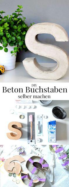 DIY Beton Buchstaben selber machen | waseigenes.com