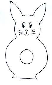 Výsledek obrázku pro velikonoční zajíc šablona