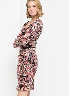 Cut-out pencil dress - Dresses for Women | MANGO