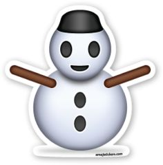 Snowman without Snow | Emoji Stickers