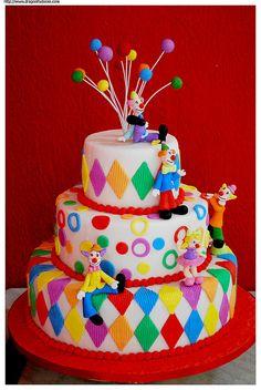 Circus Cake for Ella's birthday.