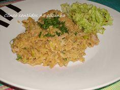 Cinco sentidos na cozinha: Atum à brás com alho francês