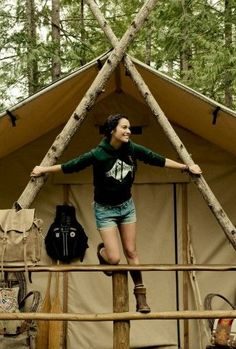 Let's go camping. Young people don't require it to be glamping