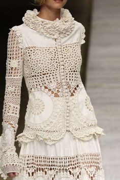 Inserts crochet, flowers, lace, patterns, for Kenzo.