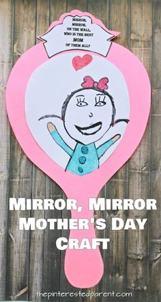 Printable Mirror Craft For Mom Free printable templates. Mirror, mirror on the wall, who's the best mom of them all. Mother's Day craft and gift idea for kids to make. Available for grandma and custom. Kids Crafts, Diy Mother's Day Crafts, Mothers Day Crafts For Kids, Mother's Day Diy, Fathers Day Crafts, Preschool Crafts, Spring Crafts, Yarn Crafts, Diy Gifts For Mom