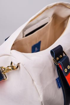 Duffel made from sailcloth on the Greek island of Cyprus