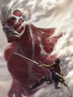 SHINGEKI NO KYOJIN  eren VS titan colosal