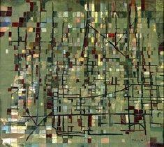 painting of Vieira da Silva Abstract Expressionism, Abstract Art, Art Informel, Composition Art, A Level Art, Art For Art Sake, Art Abstrait, Sculpture, Figure Painting