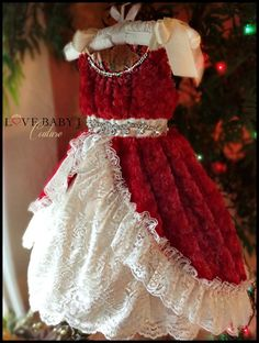 """Bow Tied and Beautiful""""... A Beautiful Minky Cuddle and Lace Ball Gown  http://www.lovebabyj.com/collections/couture-apparel/products/bow-tied-and-beautiful-a-beautiful-minky-cuddle-and-lace-ball-gown"""