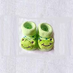 HuntGold Cute Baby Kid Toddler Newborn 3D Cartoon Short Sock Slipper Shoe Children Bootie(frog): Amazon.co.uk: Kitchen & Home