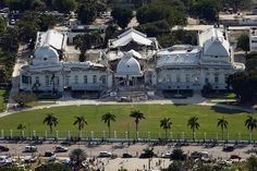 Haiti Earthquake Damage: National Palace in Port-au-Prince, Haiti: National Palace in Haiti: Aerial View Haitian Independence Day, Earthquake Damage, Port Au Prince, Air Photo, Jamaica Travel, Best Cities, France Travel, Natural Disasters, Home