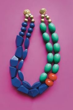 Check Out The Best Bright Statement Necklaces Straight Outta The 305 #refinery29  http://www.refinery29.com/noble-house-design-sara-lowrey-ng#slide-7  Noble House Designs Montrose Necklace, $150, available at Noble House Designs. Photo: Courtesy of Noble House Designs...