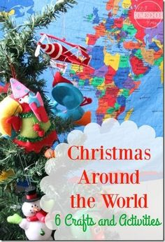 Christmas Around the World: 6 Christmas Crafts for kids to explore Christmas in Germany China Sweden Mexico Philippines England (Christmas craft for kids Christmas Activities preschool kindergarten grade grade grade) Christmas Crafts Around The World, Around The World Crafts For Kids, Around The World Theme, Celebration Around The World, Holiday Crafts, December Holidays Around The World, Holiday Recipes, Christmas Activities For Kids, Preschool Christmas