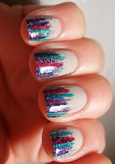 such easy nail art!