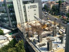 DTZ: Modern office space in Bucharest reaches 2 mil sqm. OCTAGON to deliver two more buildings in 2014 Business Centre, Bucharest, Euro, Buildings, Past, Places To Visit, Engineering, Construction, Modern