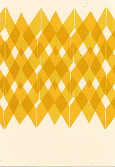 Yellow Pattern Postcard