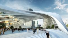 zaha hadid's flinders st. station features sweeping strata all images courtesy of zaha hadid architects A As Architecture, Parametric Architecture, Organic Architecture, Futuristic Architecture, Contemporary Architecture, Parametric Design, Education Architecture, Zaha Hadid Design, Behance