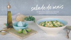 Salade de maïs et de chou-fleur au wasabi Dairy Free Recipes, Quebec, Free Food, Decorative Bowls, Salads, Veggies, Nutrition, Healthy, Whole30