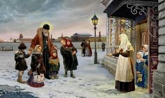 st. john of kronstadt bringing children to an orphanage