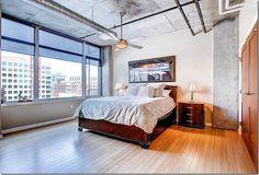 36 лихих спален в промышленном стиле