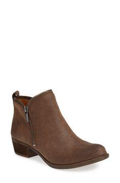 Lucky Brand 'Bartalino' Stud Embossed Leather Bootie (Women)