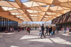 mecanoo designs gatehouse for keukenhof flower garden