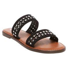 Women's Mina Slide Sandals Merona - Black 7, new