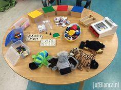 Teltijger, ruimterups etc! Counting Activities, Toddler Activities, Kindergarten Math, Preschool, Busy Boxes, Msv, Math Stations, Math For Kids, Reggio Emilia