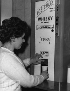 Vintage Whisky Dispenser On yes.iced whiskey, def one of the better retro inventions.bring it back, way better than the murky tea and coffee we get at my work vending machine that tastes like dishwater Looks Vintage, Vintage Ads, Retro Ads, Vintage Advertisements, Creepy Vintage, Retro Advertising, Vintage Signs, School Advertising, Vintage Oddities