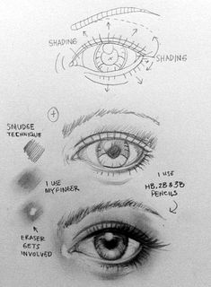 How To Draw An EYE - 40 Amazing Tutorials And Examples - Bored Art #artprojects