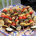 Squash, Tomato, Mushroom Kabobs