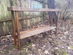 Canadian Forest, Forest Conservation, Rustic Sofa, Wood Display, Sofa Tables, Douglas Fir, Custom Woodworking, Dark Walnut, Coastal Homes
