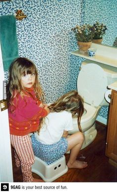 The beginning of a beautiful friendship  @Kim Hulden- This is like you and me at your birthday party...  :)