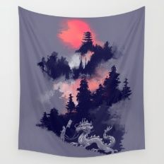 Samurai's life Wall Tapestry