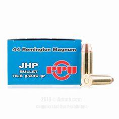 Prvi Partizan 44 Magnum Ammo - 50 Rounds of 240 Grain JHP Ammunition #44Magnum #44MagAmmo #PrviPartizan #PrviPartizanAmmo #PrviPartizan44Mag #JHP