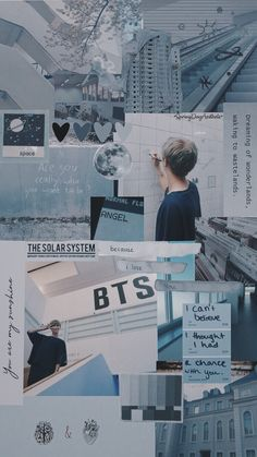 Bts Wallpapers, Bts Backgrounds, Aesthetic Collage, Blue Aesthetic, Aesthetic Pastel Wallpaper, Aesthetic Wallpapers, Bts Jimin, Jhope, K Wallpaper