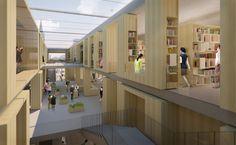 Wettbewerb, Städtische Bibliothek Heidenheim an der Brenz, Max Dudler