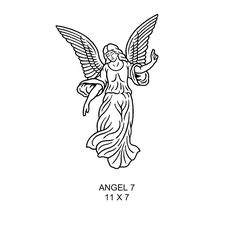 x5 White Cherub Angel Buttons