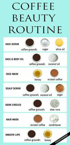 Coffee Beauty Routine--I don't drink coffee but I love the smell! I wonder if I were to do this, I'd smell like coffee. I would LOVE it! ~Missy