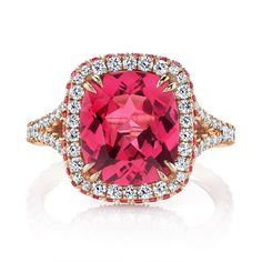 Omi Prive: Spinel and Diamond Ring