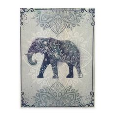 product image for Graham & Brown Boho Elephant Canvas Wall Art