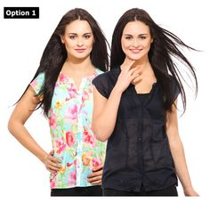 Osia cotton shirts for girls pack of 2 at Rs.499