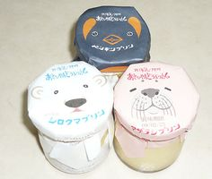 Puddings sold at Asahiyama Zoo, Japan. Yogurt Packaging, Dessert Packaging, Clever Packaging, Bottle Packaging, Pretty Packaging, Food Packaging, Creative Gift Wrapping, Creative Gifts, Identity