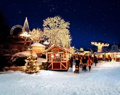 Gothenburg prides itself on its display of lights, with five million used to add festive cheer to the Liseberg Christmas market, Sweden