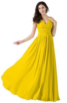 0ece4c686b ColsBM Alana - Yellow Bridesmaid Dresses