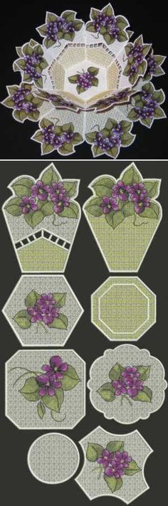 Advanced Embroidery Designs - Violet Bowl and Doily Set