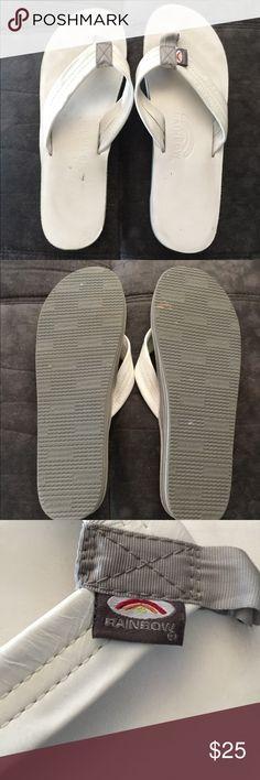 d8f63d71a2b 🎉⚡️24 Hour Sale ⚡ 🎉 Rainbow flip flops size 9 Double layer white